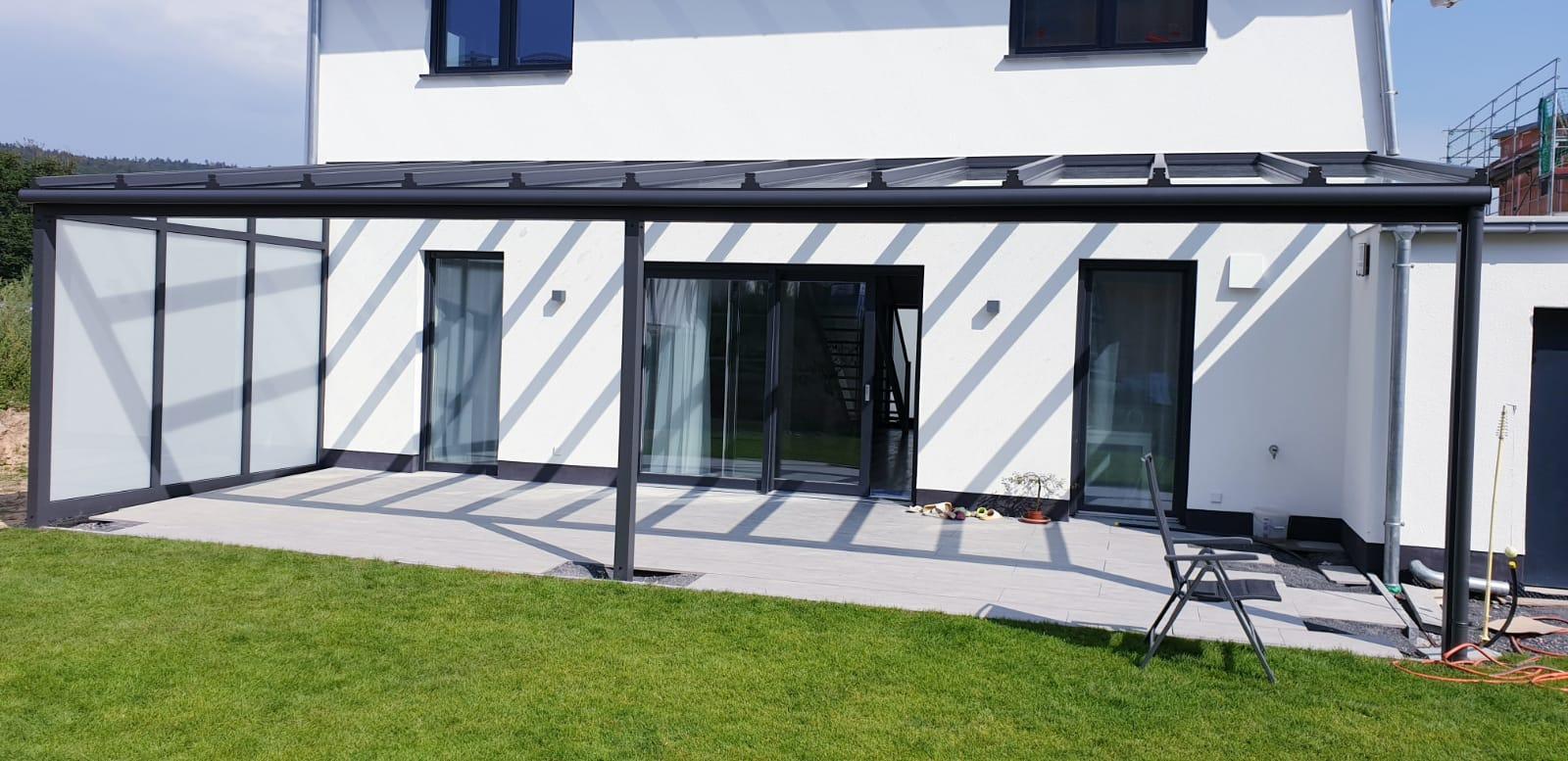 Terrassenüberdachung ohne Seiten